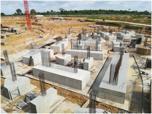Pieux sud-ouest en construction